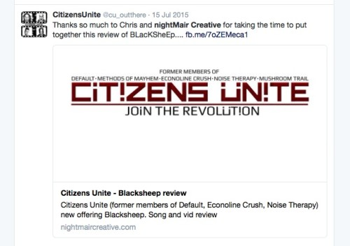 nightmair creative Citizens Unite