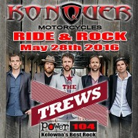 ride and rock 2016 the trews Konquer motorcycles